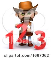 3d Cowboy Sheriff Teaches Math