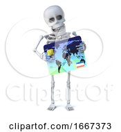 3d Skeleton Goes Shopping With His Debit Card