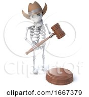 3d Cowboy Skeleton Holds An Auction