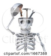 3d Skeleton Reveals A Tool Kit Inside His Skull