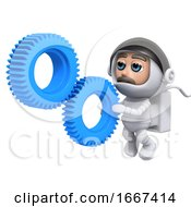 Poster, Art Print Of 3d Astronaut Gears