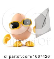Poster, Art Print Of 3d Egg Has Mail