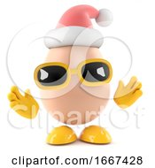 Poster, Art Print Of 3d Santa Egg