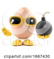 Poster, Art Print Of 3d Egg Has A Bomb
