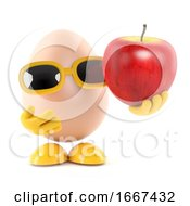 3d Egg Holds An Apple