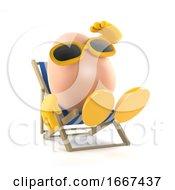Poster, Art Print Of 3d Sunbathing Egg