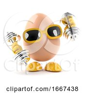 Poster, Art Print Of 3d Egg Work Out