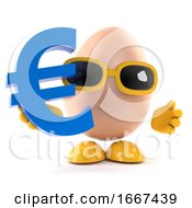 Poster, Art Print Of 3d Egg Has A Euro Currency Symbol