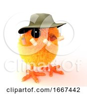 Poster, Art Print Of 3d Chick Goes To Australia