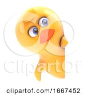 Poster, Art Print Of Chick Behind Blank Space