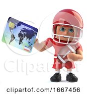 3d American Footballer Pays With A Debit Card