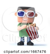 Poster, Art Print Of 3d Nerd Goes To The Movies