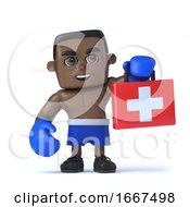 3d Black Boxer Brings First Aid