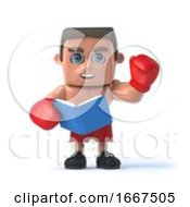 3d Boxer Reads A Book