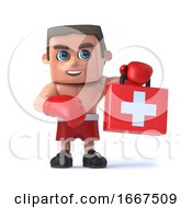 3d Boxer With First Aid Kit