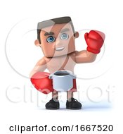 3d Boxer Takes A Coffee Break by Steve Young