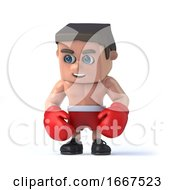 3d Boxer Looks Down by Steve Young