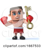 3d Boxer Has The Gold Key by Steve Young