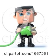 3d Bow Tie Spy Uses Green Energy
