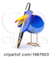 Poster, Art Print Of 3d Blue Bird Comments