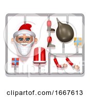 3d Plastic Santa Construction Kit
