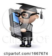 3d Graduate Chats On His Cellphone