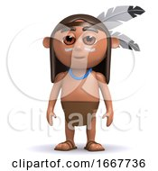Poster, Art Print Of 3d Native American Indian