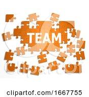 Poster, Art Print Of 3d Jigsaw Puzzle Team
