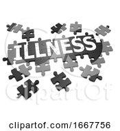 Poster, Art Print Of 3d Illness Jigsaw