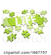Poster, Art Print Of 3d Jigsaw Puzzle Life