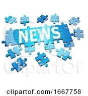 Poster, Art Print Of 3d News Jigsaw