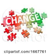 Poster, Art Print Of 3d Change Jigsaw