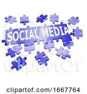 Poster, Art Print Of 3d Jigsaw Puzzle Social Media