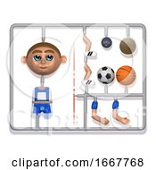 3d Plastic Sportsman Construction Kit