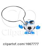 3d Football Speech Balloon