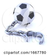 3d Chained Soccer Ball