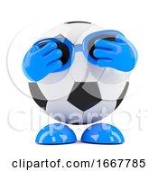 3d Football Hides His Eyes