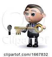 3d Salesman Unlocks The Door