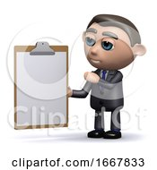 3d Salesman With A Clipboard