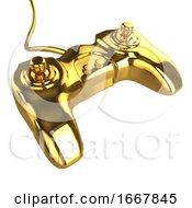 3d Golden Console Controller