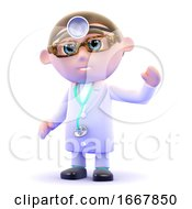 Poster, Art Print Of 3d Doctor Waves Hello