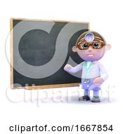 3d Doctor At The Blackboard