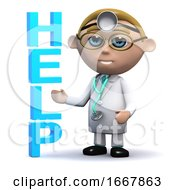 Poster, Art Print Of 3d Doctor Offers Help