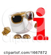 Poster, Art Print Of 3d Coffee Cup Information