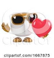 3d Coffee Cup Love