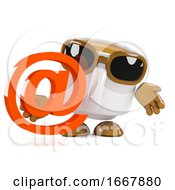 Poster, Art Print Of 3d Coffee Cup Email Address
