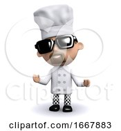 3d Chef Looks Cool In Sunglasses