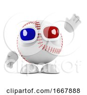 3d Baseball Wears 3d Glasses