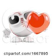 Poster, Art Print Of 3d Love Baseball