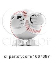 3d Scared Baseball